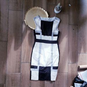 Karen Millen Abstract Mini Dress Zip Detail 10
